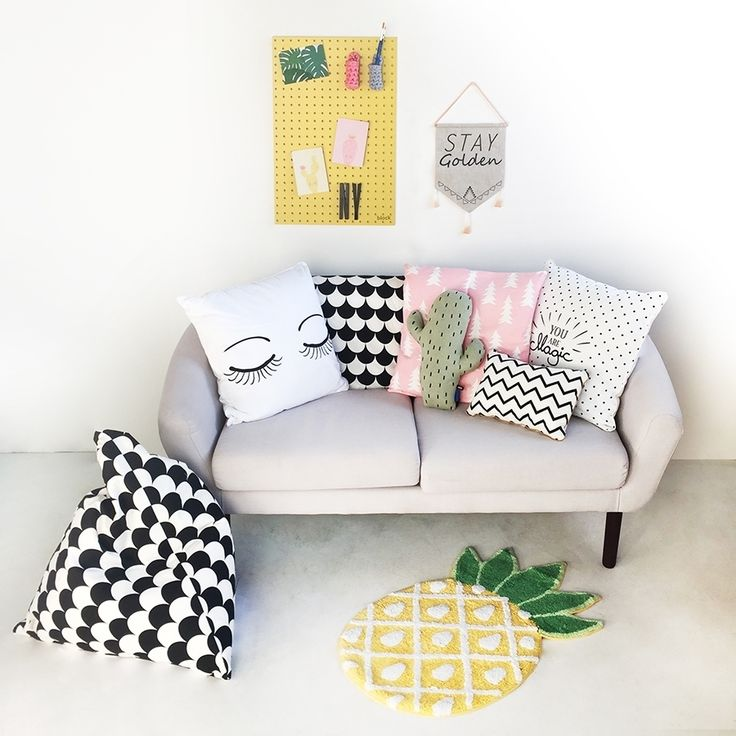 Hope you all had a fabulous Christmas and New Year. We're back into the swing of things and really excited about all the new things we have planned for 2017! ✨ We've even had a spring clean here at TML HQ! Feeling refreshed with our #pineapple rug, #cactus #cushion and bright yellow peg board   Everything here available online  . . . #ThisModernLife #StayGolden #Pouffe #BlackandWhite #Monochrome #ModernNurseryDecor #KidsInspo #KidsDecor #Eyes #KidsDecor #KidsRoom #KidsRoomDecor #NurseryInspo