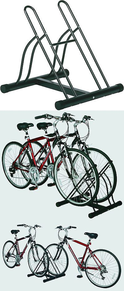 Bicycle Stands and Storage 158997: Racor Two Bike Floor Stand - Free Standing 2 Bike Rack Garage Bicycle Storage -> BUY IT NOW ONLY: $49.99 on eBay!