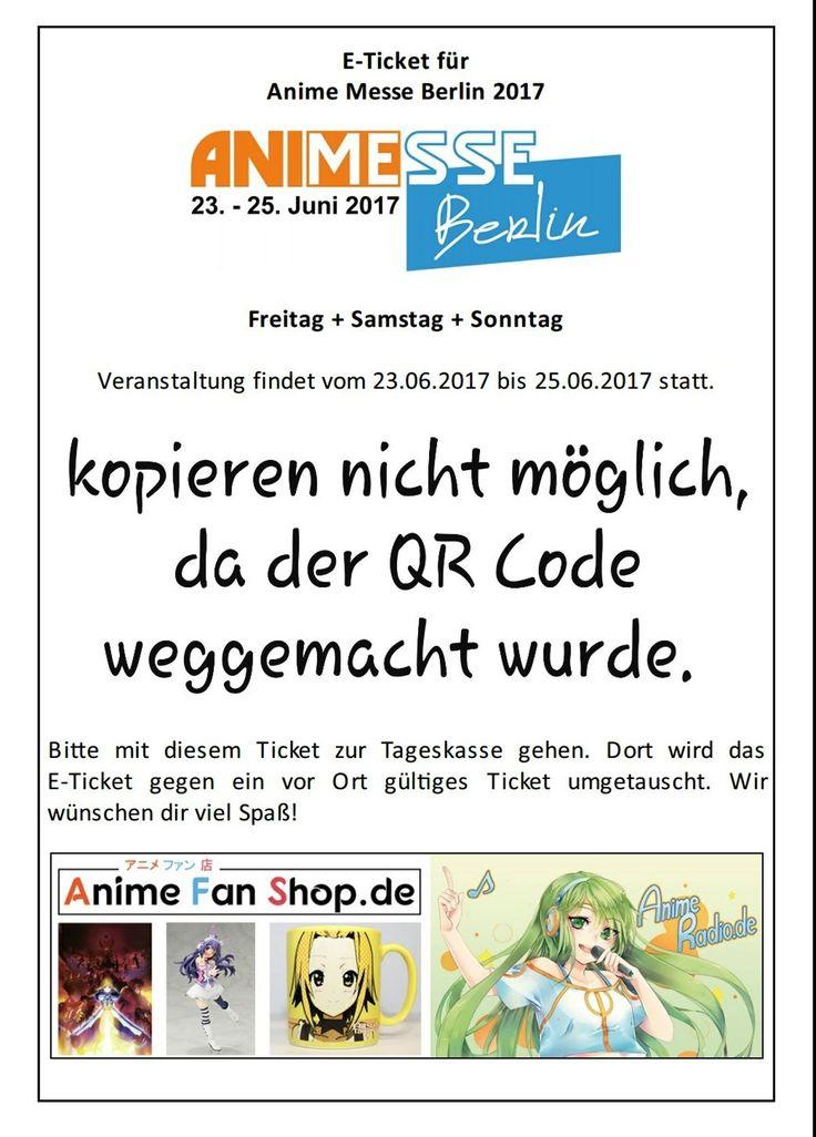 E-Ticket für die Anime Messe Berlin