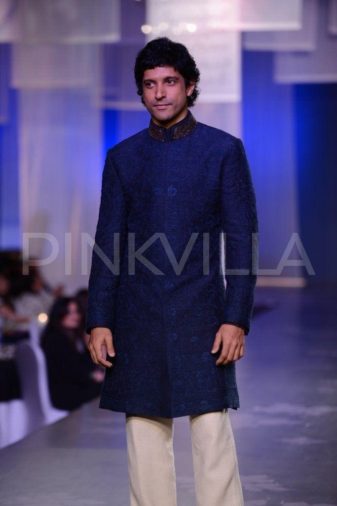 April 01, 14: Farhan Akhtar in Manish Malhotra's #MenForMijwan Show for Shabana Azmi's Brilliant Rural NGO http://www.Mijwan.org/donate-to-mijwan.html