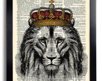 Lion king with crown - photo#18