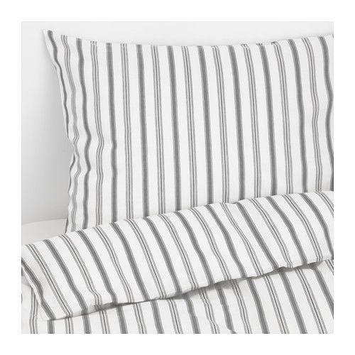 IKEA - HÖSTÖGA, Housse de couette et taie(s), Deux places/grand deux places, , Le coton est doux et agréable contre la peau.