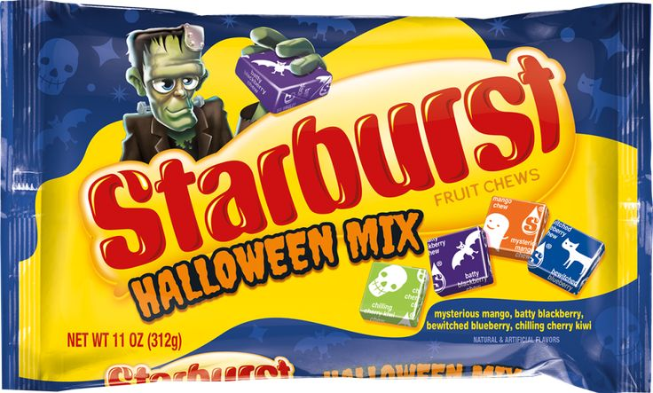 We all know that red and pink are the superior Starburst flavors, but this Halloween sparks a whole new debate. This special edition of the candy features blackberry, blueberry, mango and cherry-kiwi flavors. Better hunt down a friend with opposing tastes so you can do a few tradesies.