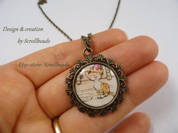 Amuleto bella Sarah Kay partito gattino con di Scrollbeads su Etsy