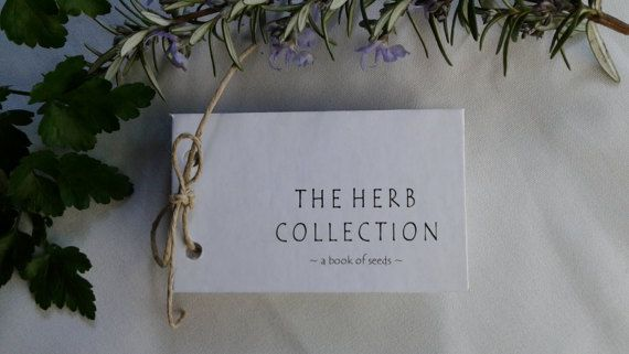 Tiny Book of herb seeds a miniature book of by TheGiftedTomato