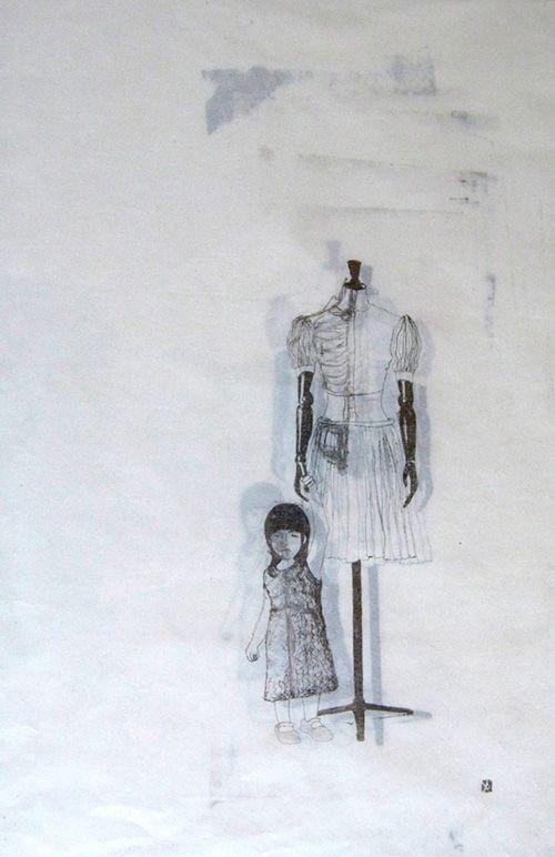 Postiche by Karine Berthiaume  20 x 28 cm, 2012 (Lithographie sur plaque de polyester), Collection privée
