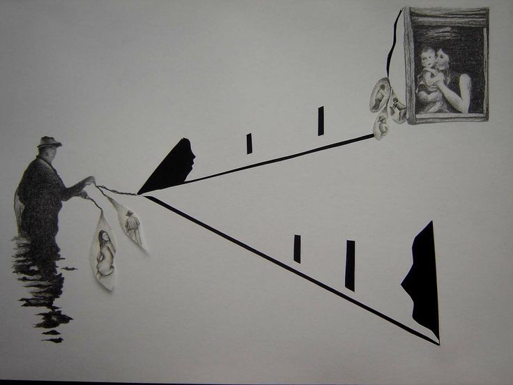 Pescador Ilusiones II. Grafitosobre papel