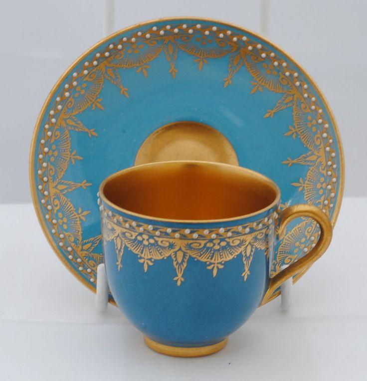 1920s ART DECO ANTIQUE ROYAL WORCESTER PORCELAIN CUP & SAUCER in Dresden | eBay