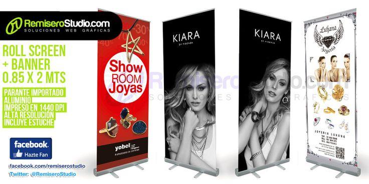 Nuevos Banner + Roll Screen impresos para Joyerías en Perú | Blog RemiseroStudio