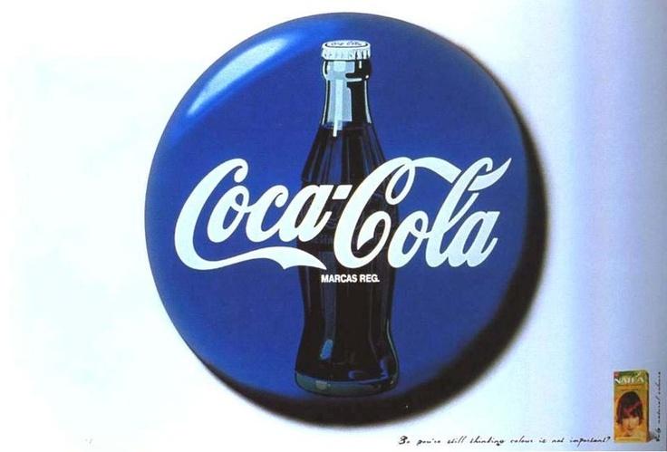 파란색 코카콜라? 기발한 염색약 광고