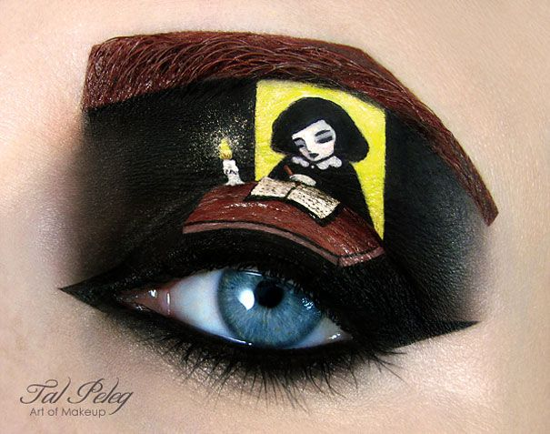 Amazing Eye-Makeup Illustrations by Tal Peleg 5 - https://www.facebook.com/different.solutions.page