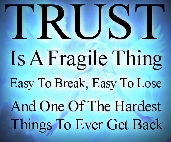 Trust Quotes And Sayings: Trust Is Fragile Quotes. QuotesGram