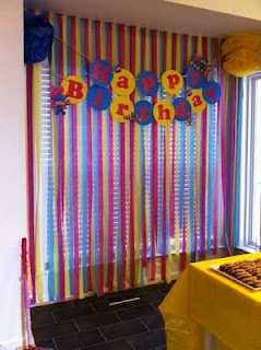 Banner with streamers - reference photo for circle letters