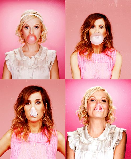 Amy Poehler and Kristen Wiig!