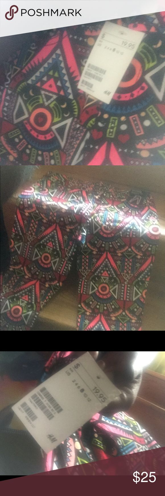DIVIDED by H&M Super Slim Leg Aztec Print Pants Never Worn tags are still attached size EUR 38=US 8 H&M Pants Skinny
