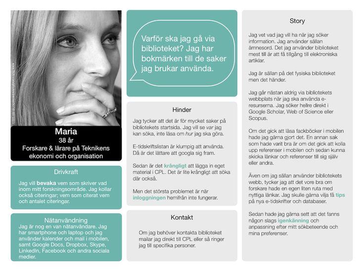 Maria, van nätanvändare, smartphone, laptop, google drive, Dropbox, Skype, Facebook - Chalmers