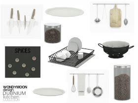 Sims 4 CC's – The Best: Dubnium Kitchen Decorations by Wondymoon – Alisa Heck