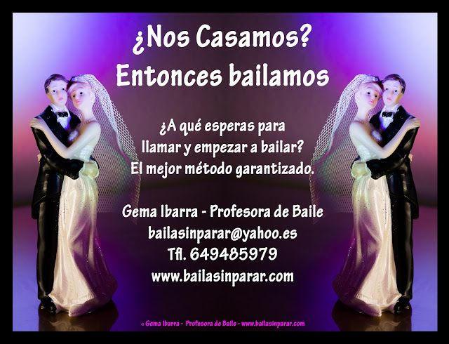 Baile Nupcial en Madrid Clases particulares: ¿Nos Casamos? Entonces bailamos. Clases de baile p...