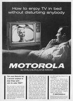 Motorola Portable TV 19T40, Earphone 1963 Ad Picture
