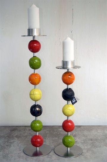 Gulv-lysestager i keramik