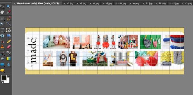 How to make a Photo Header using Photoshop @dana-made-it.com #HowTo #Photoshop #website