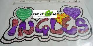 Resultado de imagen para como decorar letras para cuaderno