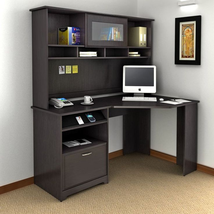 Bush Cabot Corner Computer Desk With Optional Hutch   This Collection Is  What Separates The Office From Your Average Workspace. Part 41