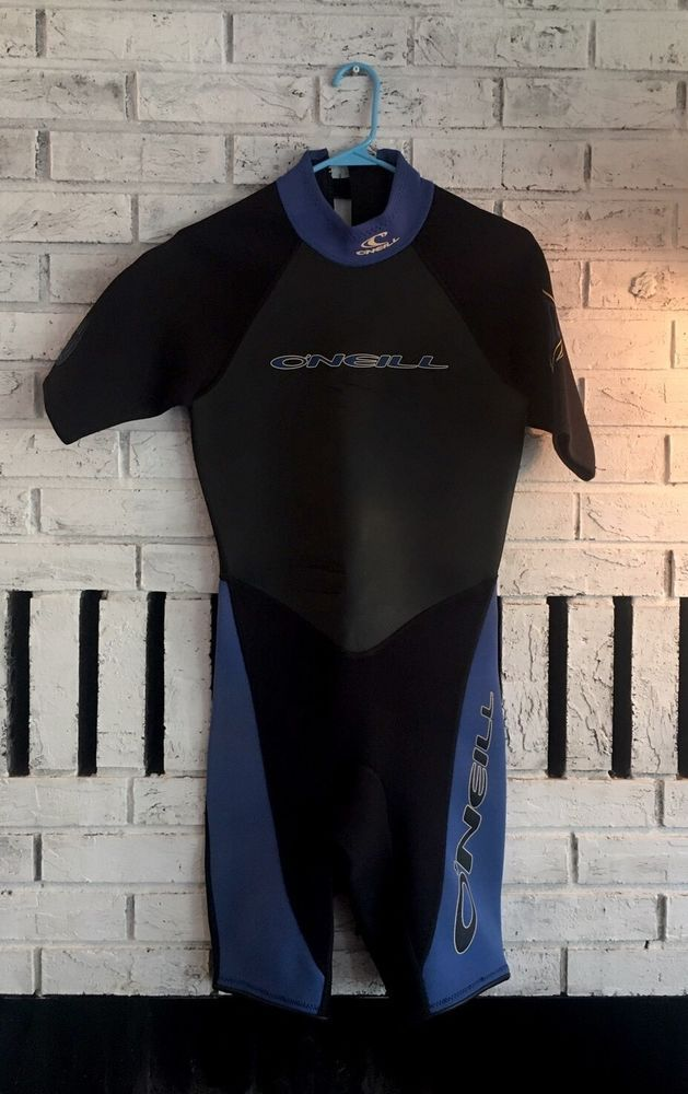 O'Neill Mens Shorty Wetsuit Size Small S Style 7117 Short Sleeve Short Surf Ski #ONeill