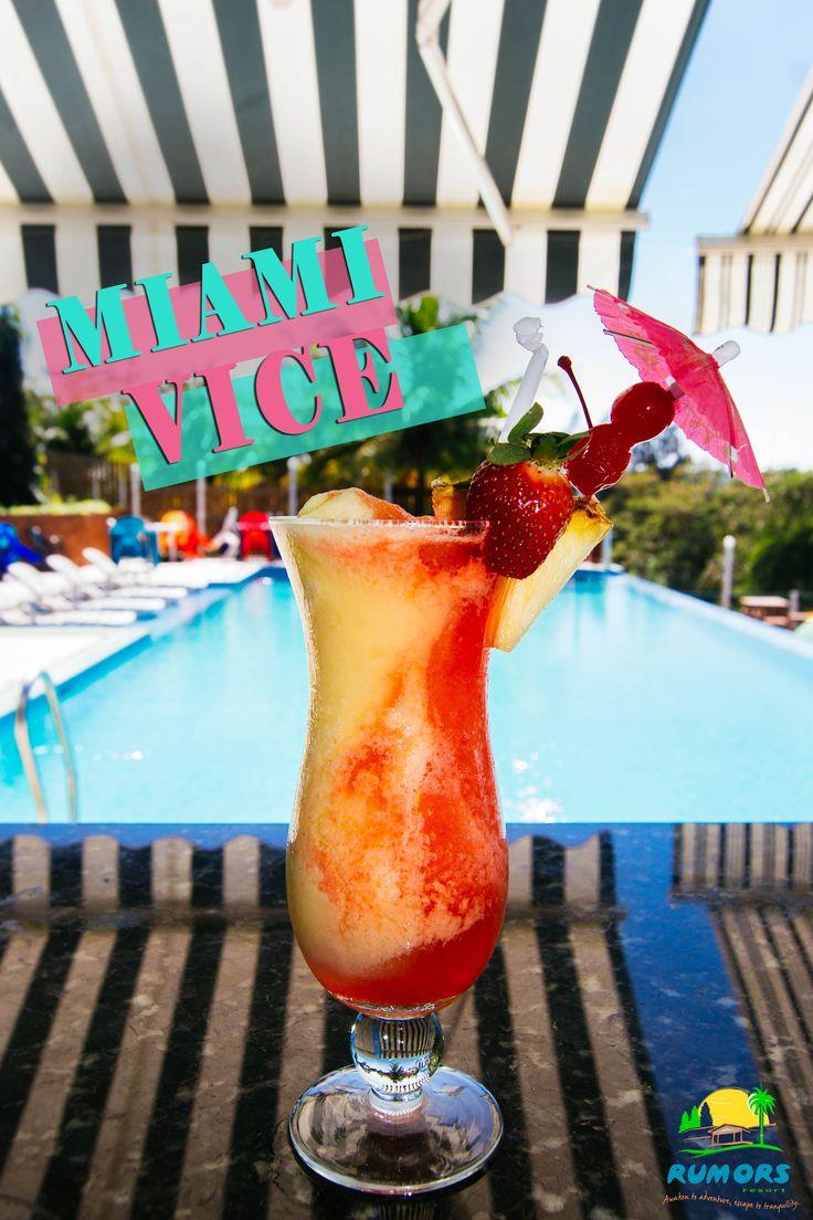 Drink Special MIAMI VICE Half Pina Colada Half Strawberry Daiquiri   #rumorsresort #bar #barlife #mixdrinks #weekend #chillmode #MiamiVice #Diquiri #Strawberry#TGIF #liquor #resort #Belize #seeyousoon #neonlights #neon #lights #resorts #fullbar #resort #vacation #caribbean #alcohol #liquor #whiskey #whisky #tequila #rum #brownjuice