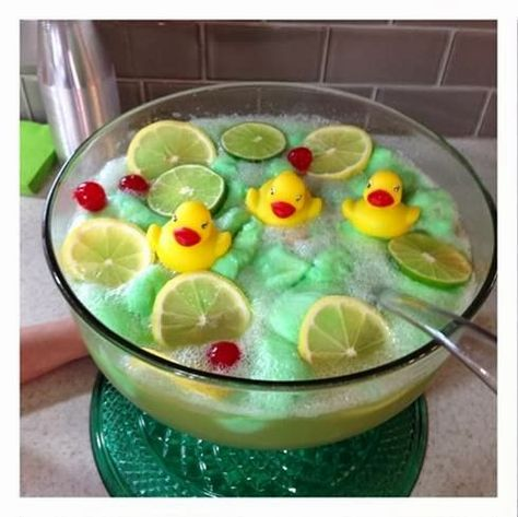 Lime Sherbet Punch Recipe {Rubber Ducky Baby Shower Idea} - Crafty Morning