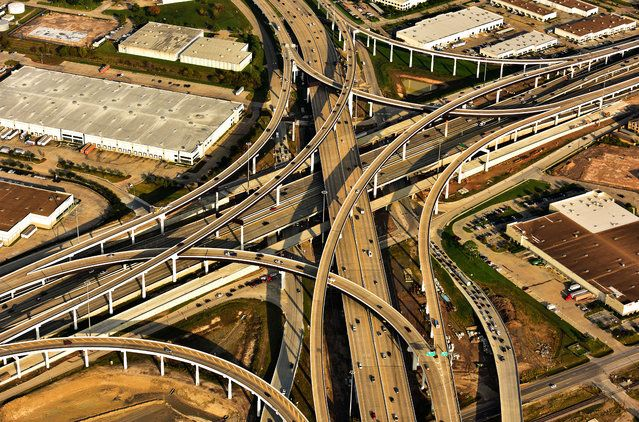 USA From The Air - Freeways in Houston | www.piclectica.com #piclectica