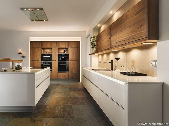27 best Küchen images on Pinterest Kitchen modern, Kitchen ideas - kuche wohnzimmer offen modern