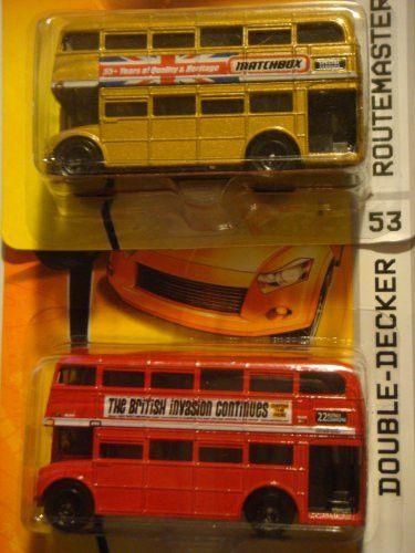 Matchbox Routemaster Double Decker Bus Set: 55th Anniversary Edition & The Red British Invasion 1/64 2006-7