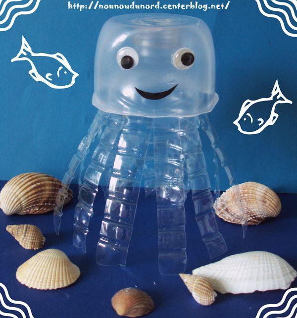 Afocal Bretagne. De la récup' pour une jolie méduse facile à faire ! Pensez à tester votre activité en amont !