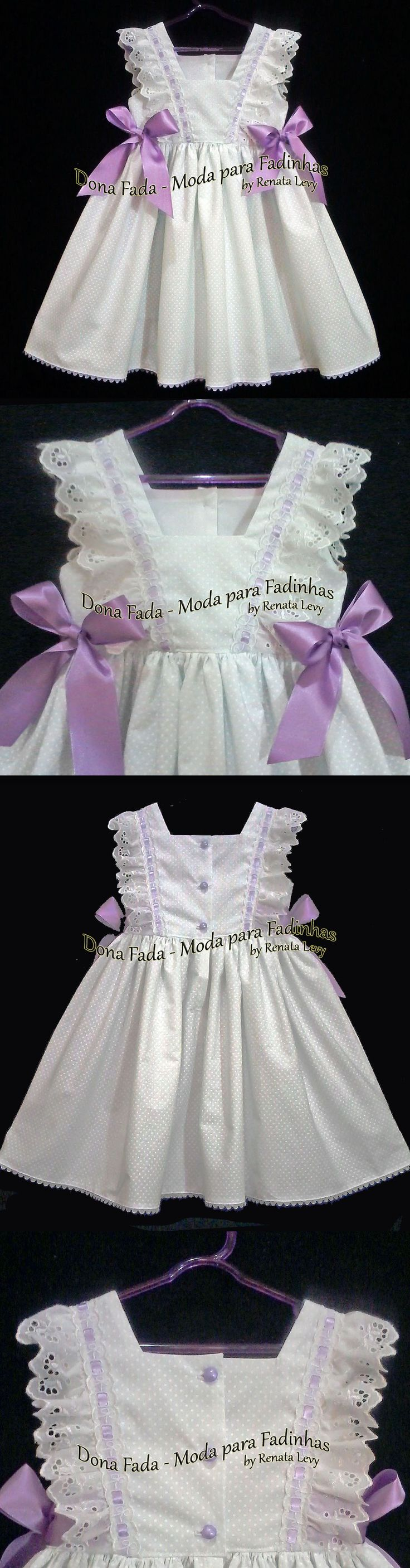 Vestido Branco e Lilás - 2/3 anos - - - - - baby - infant - toddler - kids - clothes for girls - - - https://www.facebook.com/dona.fada.moda.para.fadinhas/                                                                                                                                                                                 Mais