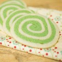 Sablés spirales à la pistache