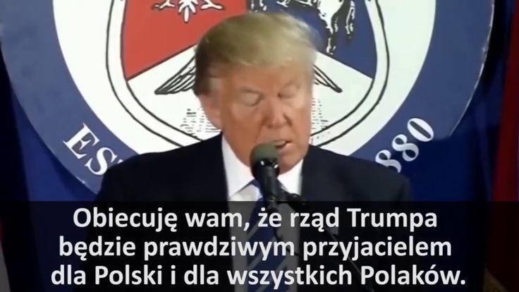 Prezydent Donald Trump o Polsce i Polakach a media informują jaka to fat...