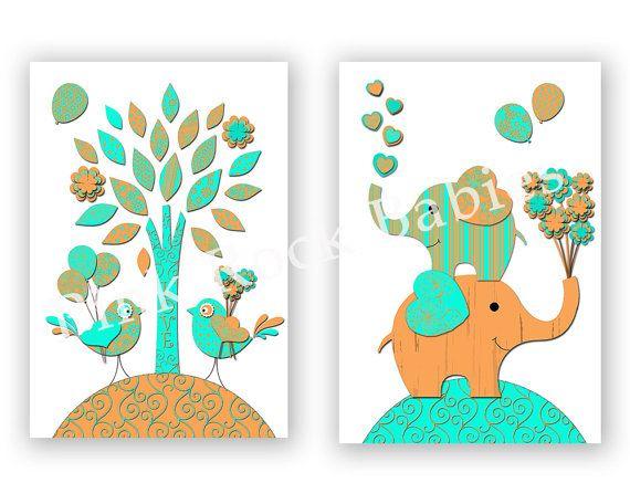 Neutral nursery wall decor kinds room artwork by PinkRockBabies