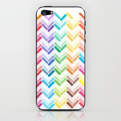 Colourful pattern iPhone & iPod Skin by Eltina Giannopoulou - $15.00