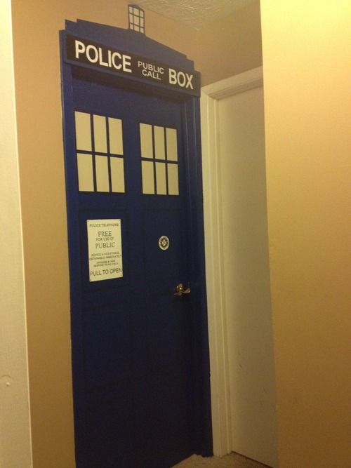 Tardis Doctor Who Bedroom Door Painted