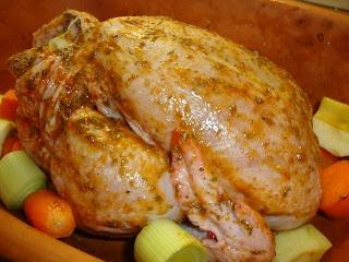 Helstekt kyckling i lergryta