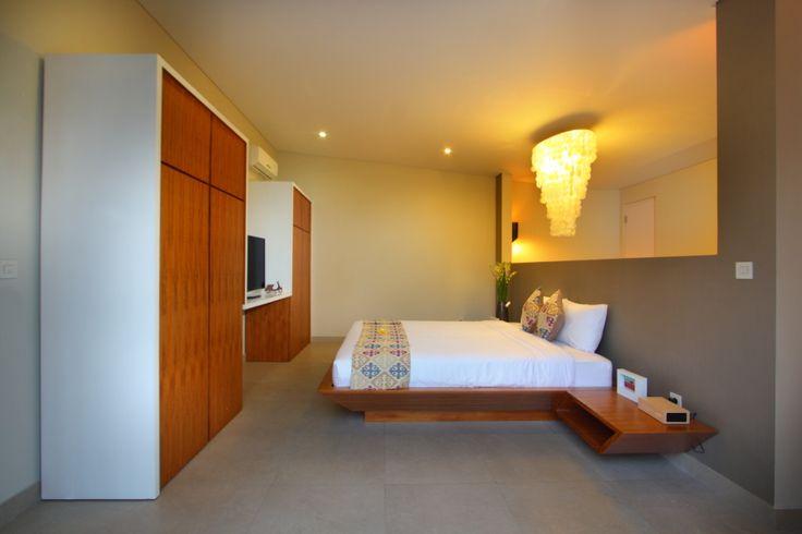 Unik Villa, in Brawa Bali, master bedroom, open to the bathroom