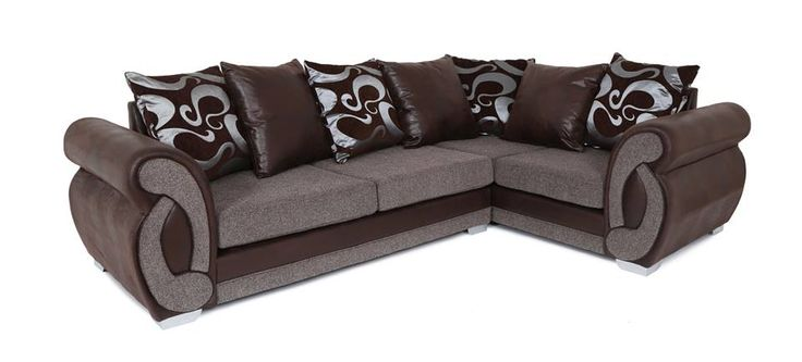 Best Lucia 2C1 Corner Sofa £499 Brown With Images Sofa 400 x 300