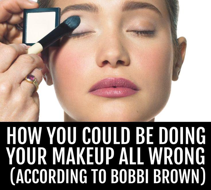 bobbi brown on makeup - tips