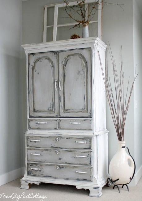 Muebles pintados con pintura a la tiza