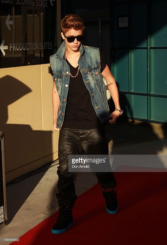Justin Bieber poses before he performs an exclusive acoustic concert at Fox Studios on July 17, 2012 in Sydney, Australia.