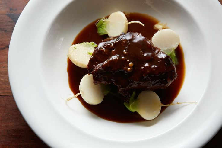 Braised Ox cheeks with Port and Turnips | Mark Hix