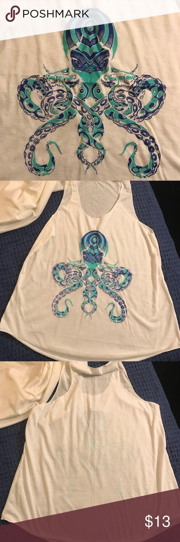 Octopus tank top Fun and artsy octopus tank top Tops Tank Tops
