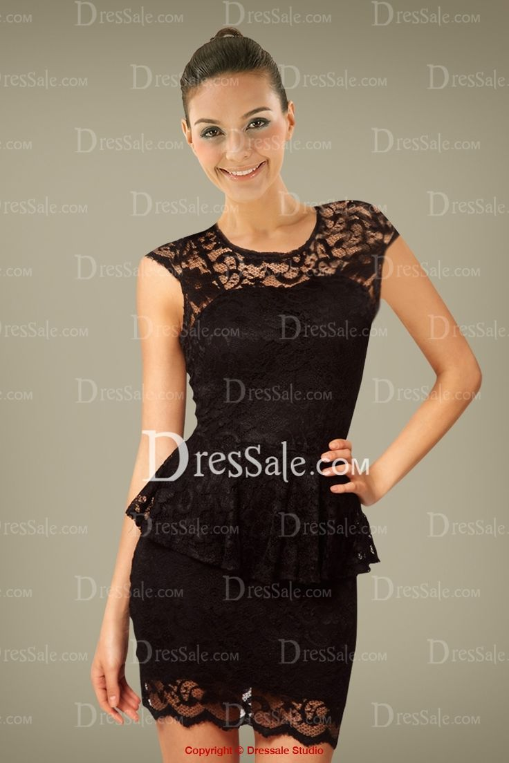 Seductive Sheath Cocktail Dress in Two-piece Figure with Lace Cover