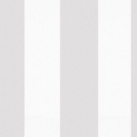 Sol Grey & White Stripes Wallpaper